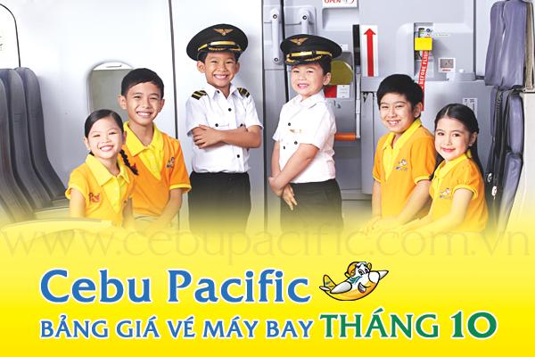 Bảng giá vé máy bay Cebu Pacific tháng 10/2019