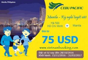 Bay cùng Cebu Pacific với giá vé siêu rẻ từ 75 USD
