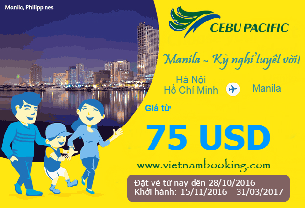 ve may bay khuyen mai cebu pacific gia re