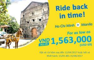 Cebu Pacific tung loạt vé máy bay giá rẻ chỉ từ 69 USD