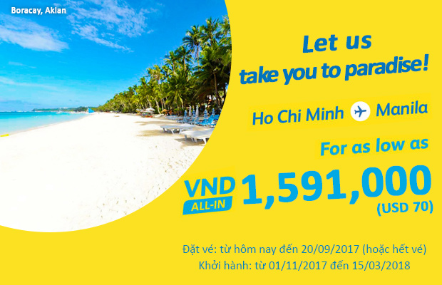 ve may bay cebu Pacific khuyen mai