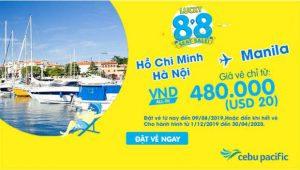 Khuyến mãi Cebu Pacific đến Manila chỉ từ 20 USD