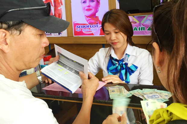 Thanh toán trực tiếp tại phòng vé máy bay Cebu Pacific