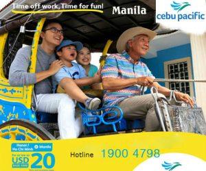 Khuyến mãi Cebu Pacific đi Manila với giá cực rẻ từ 20 USD