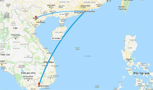 Bay từ Hongkong về Việt Nam mất bao lâu