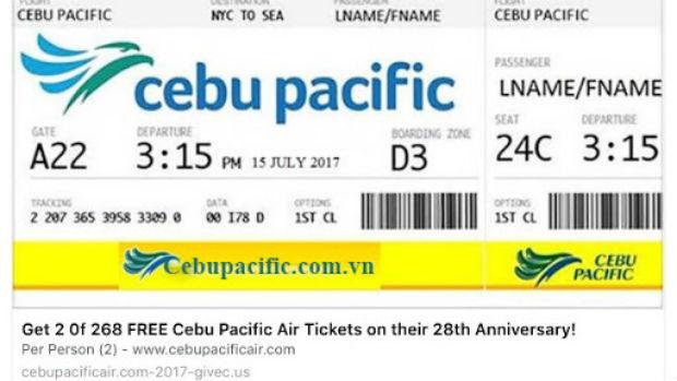 Đổi vé máy bay Cebu Pacific , phí rẻ