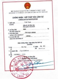 Các giấy tờ, tài liệu được miễn hợp pháp hóa lãnh sự