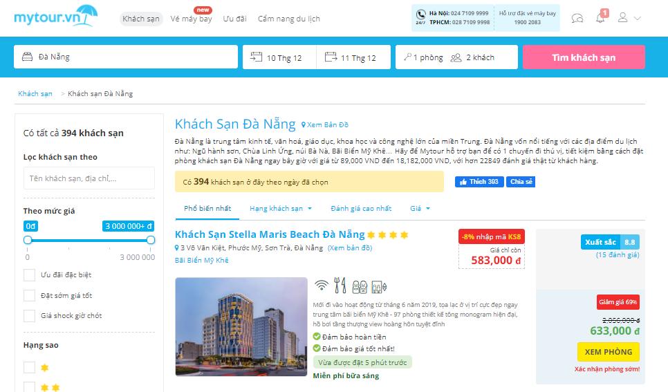 My tour - trang web đặt phòng khách sạn uy tín